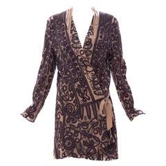 Dries Van Noten Silk Ribbon Embroidered Kimono Jacket