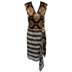 DRIES VAN NOTEN Size 4 Multi-Color Print Silk Sleeveless Shift Dress