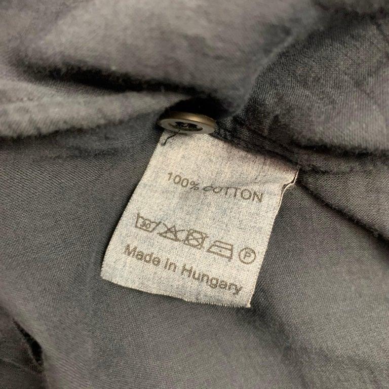 Men's DRIES VAN NOTEN Size S Black Cotton Button Up Long Sleeve Shirt For Sale