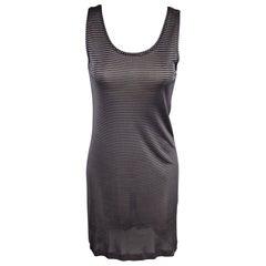 DRIES VAN NOTEN Size S Navy Stripe Jersey Viscose Tank Dress