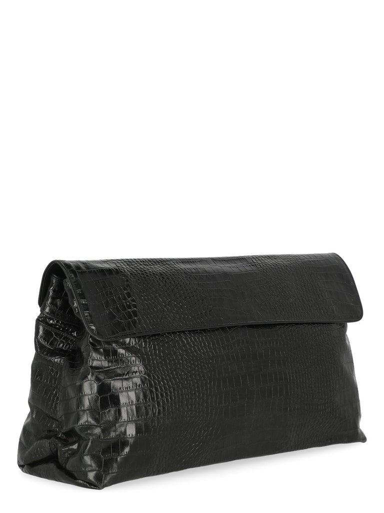 Dries Van Noten Women Handbags Black Leather  In Good Condition In Milan, IT