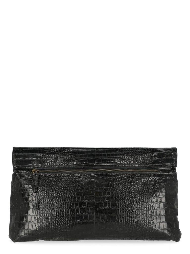 Women's Dries Van Noten Women Handbags Black Leather