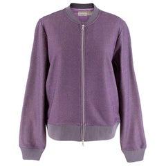 Dries Van Noten Women's Purple Knit Sparkle Bomber Jacket M