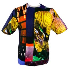 DRIES VAN NOTEN x MIKA NINAGAWA S/S 20 Size M Multi-Color Graphic Cotton T-shirt