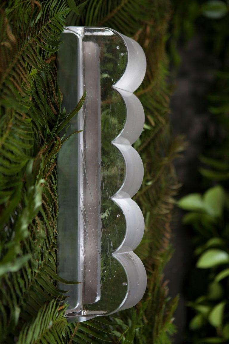Modern Drift Bump Contemporary Sculptural Cast Glass Wall Light Sconce For Sale