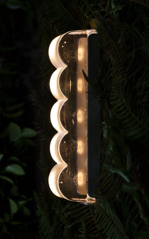 Drift Bump Contemporary Sculptural Cast Glass Wall Light Sconce For Sale 2