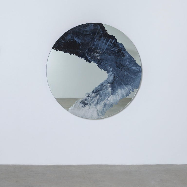 American Drift Mirror, Sand and Mirror by Fernando Mastrangelo For Sale