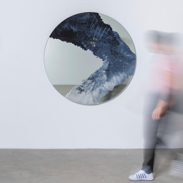 Drift Mirror, Sand and Mirror by Fernando Mastrangelo In New Condition For Sale In Brooklyn, NY
