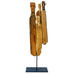 Driftwood Sculpture of Four Expressive Figures by Marc Bourlier, French B. 1947