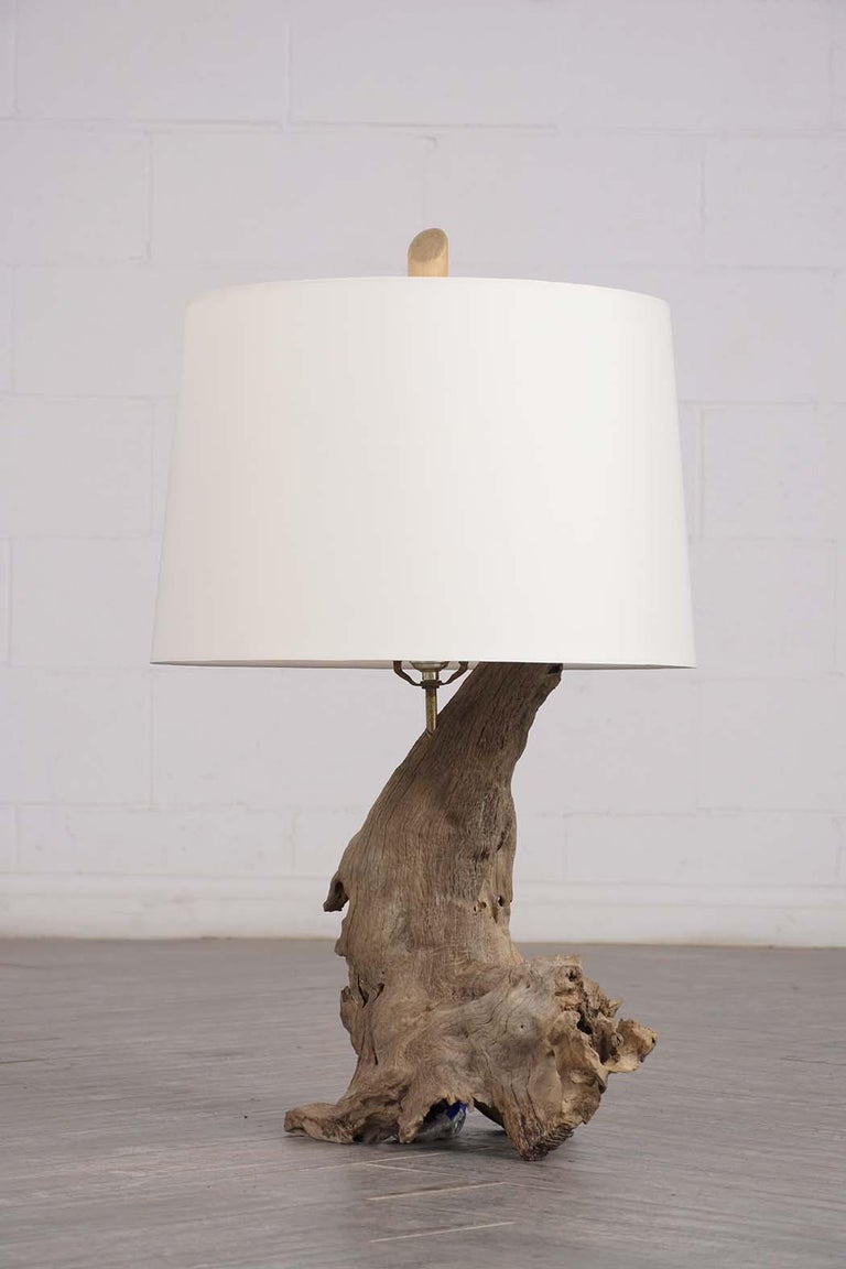 Modern Driftwood Table Lamp, circa 1950 For Sale