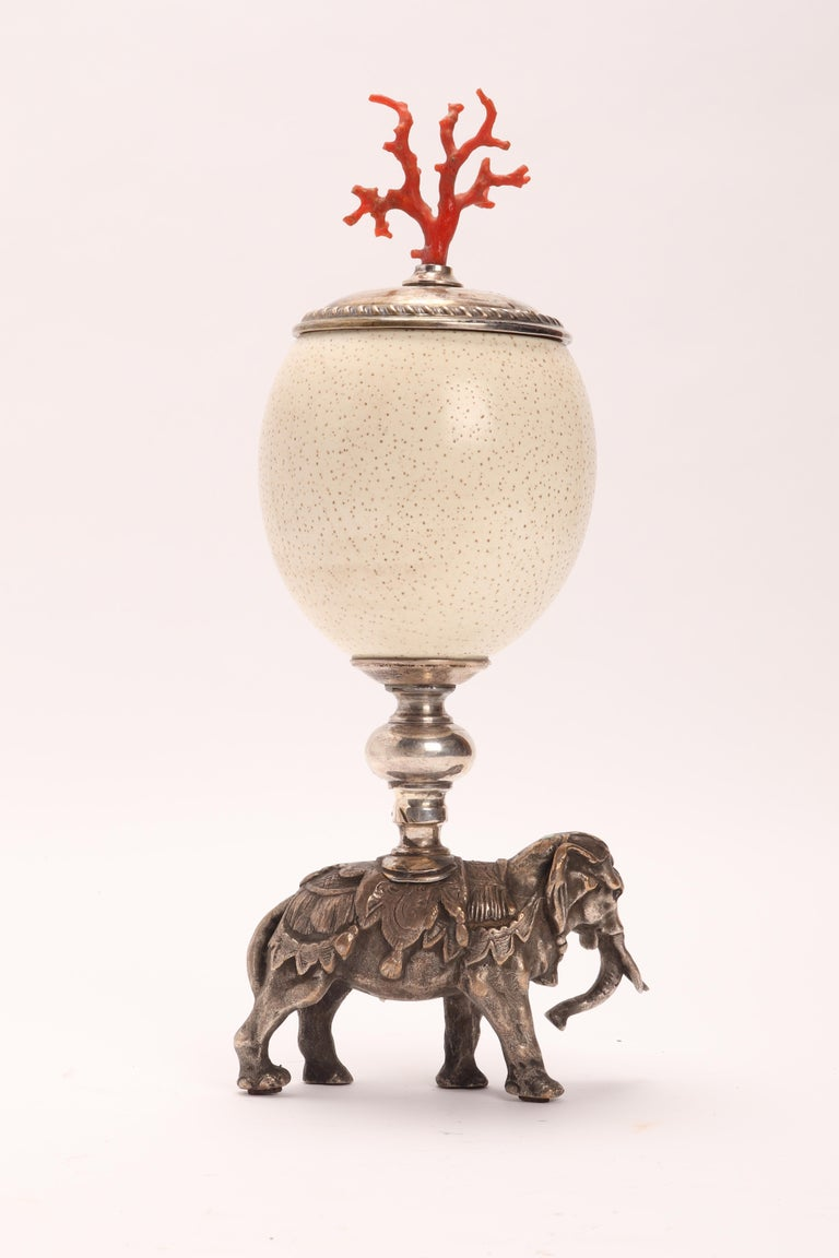 Drinking Vessel from an Ostrich Egg, Italy, 1800 For Sale 1
