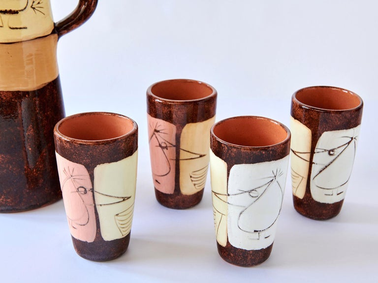 Mid-Century Modern Drinks Set by Edmund Ronaky For Sale