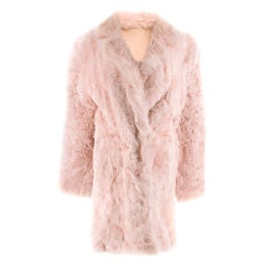 DROMe Pink Double Breasted Reversible Shearling CoatSIZE S
