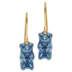 Drop Earrings Gummy Bears Blueberry Gift 18K Silver Gold-Plated Greek Jewelry