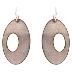 Drop Earrings in Silver and Enamel by Anne Leger
