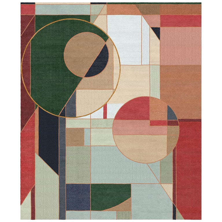 Drop in, Duke Hand-Tufted Wool and Viscose Rug For Sale