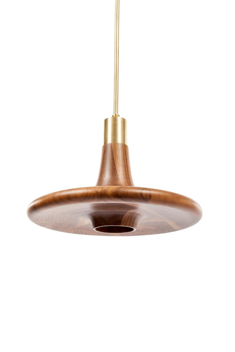 Turkish Drop Lamp, Minimalistic Wooden Pendant Lighting For Sale