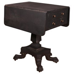 Drop-Leaf Lamp Table