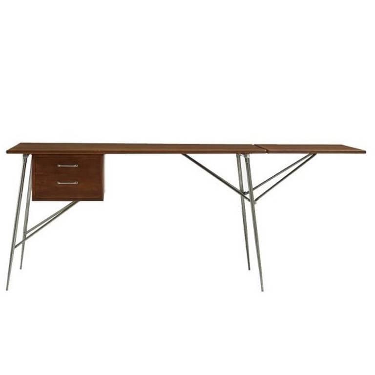 Drop-Leaf Writing Desk in Teak by Børge Mogensen for Søborg Møbelfabrik