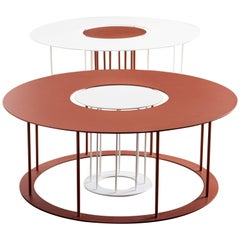 Drop Metal Coffee Table Two in One, Made in Italy
