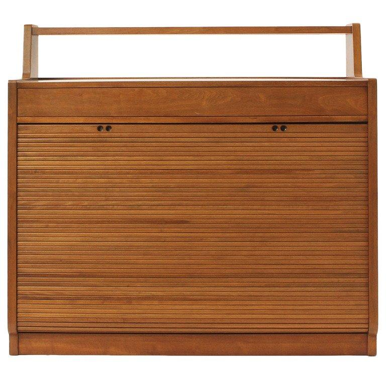 Drop Tambour Front Cabinet by Edward Wormley