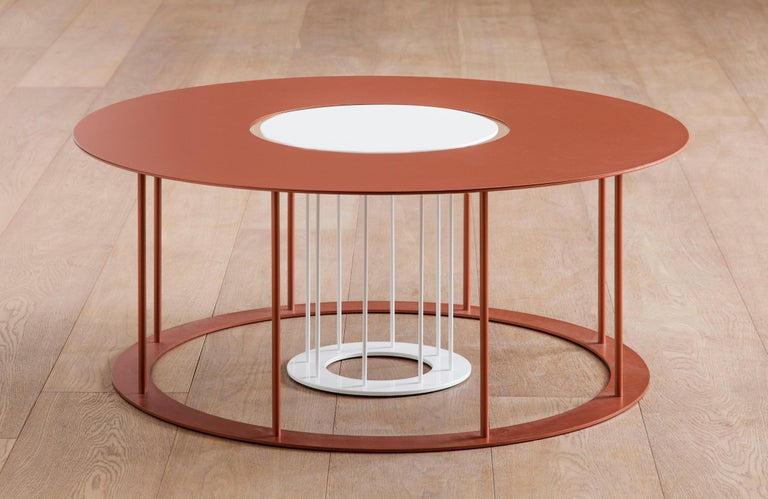 Italian Drop Metal Coffee Table Two in One, Made in Italy For Sale