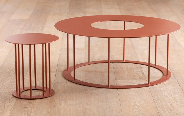 Drop Metal Coffee Table Two in One, Made in Italy In New Condition For Sale In Milano, IT