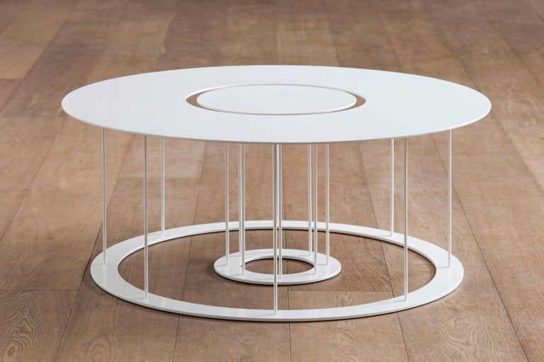 Contemporary Drop Metal Coffee Table Two in One, Made in Italy For Sale