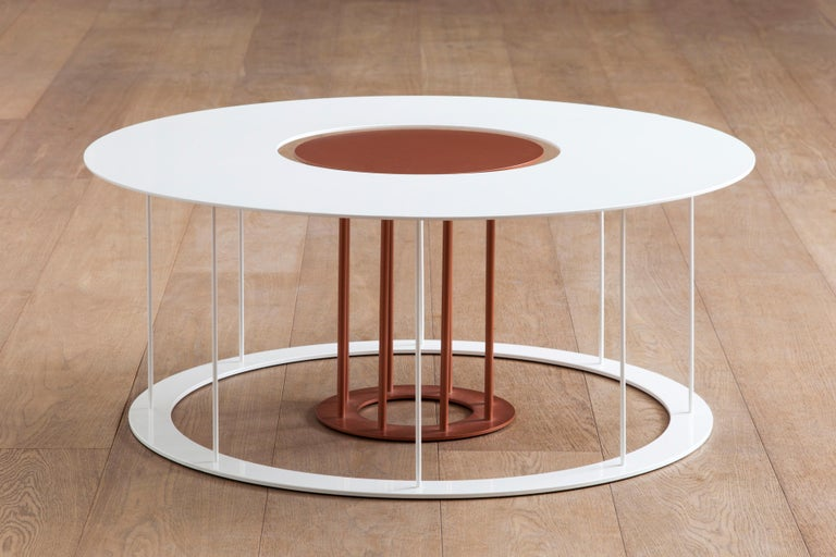 Drop Metal Coffee Table Two in One, Made in Italy For Sale 1
