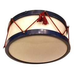 Drum Shaped Light Fixture