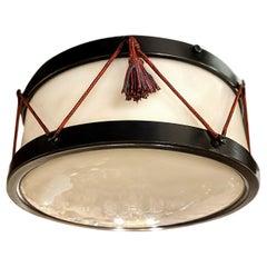 Drum Shaped Light Fixture