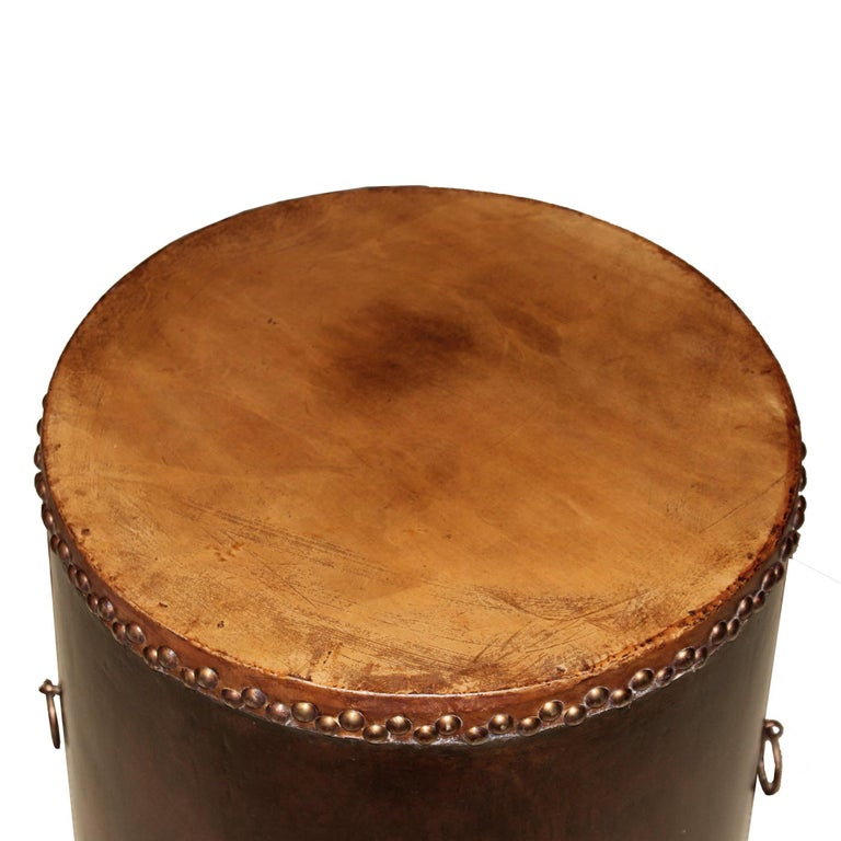 Asian Drum Table For Sale
