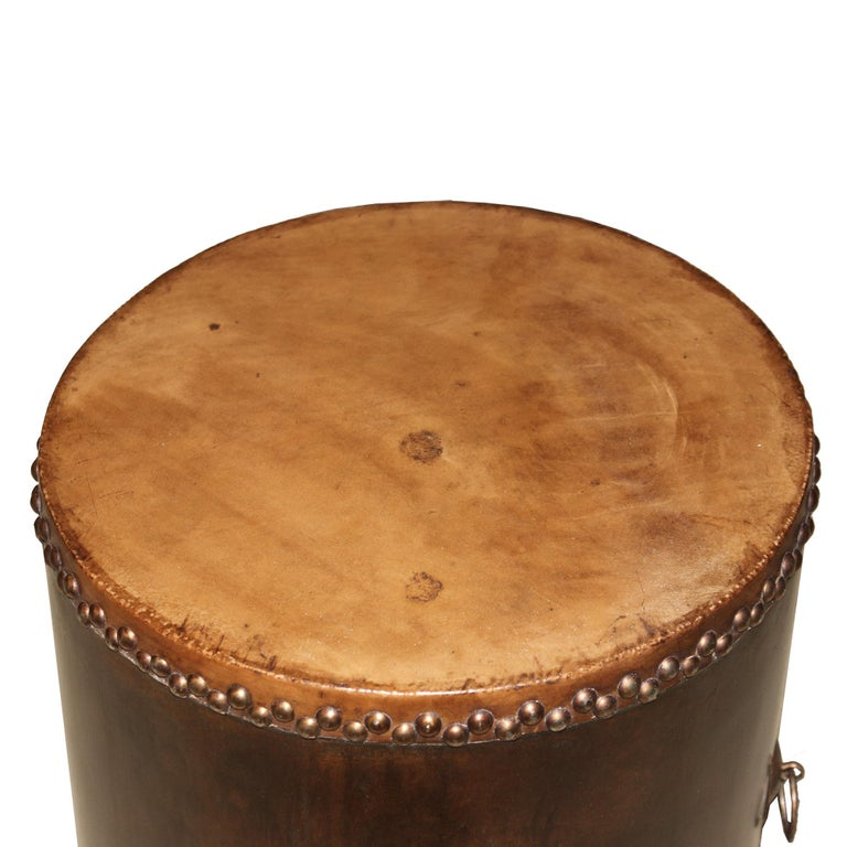 Wood Drum Table For Sale