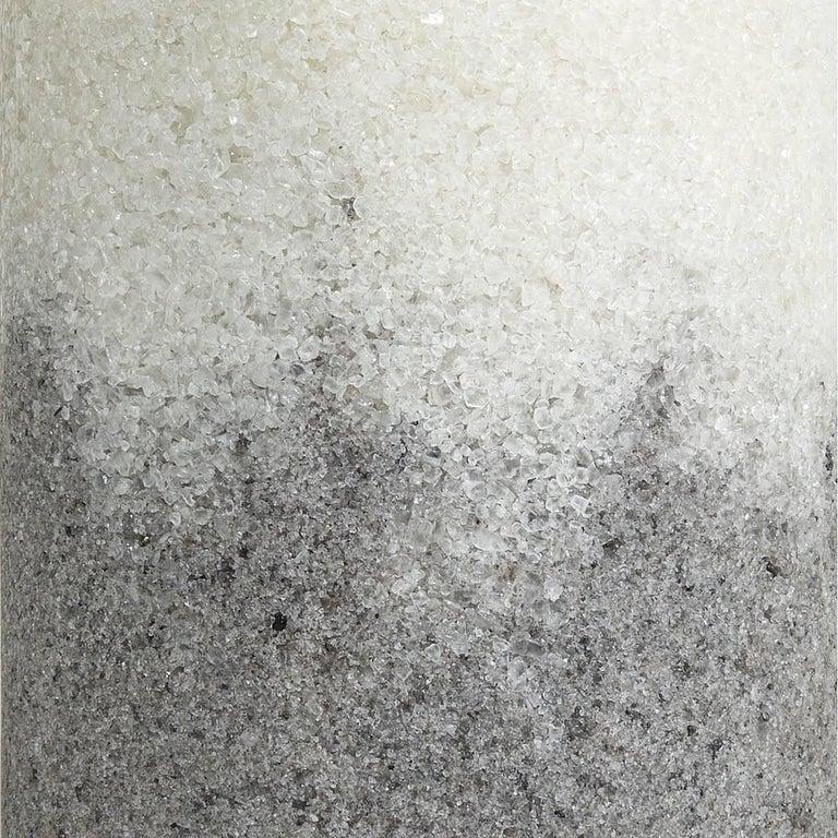 Contemporary Drum, White Rock Salt and Grey Rock Salt by Fernando Mastrangelo For Sale