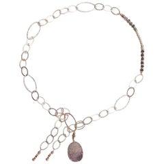Druzy Agate Sahara Gold Necklace