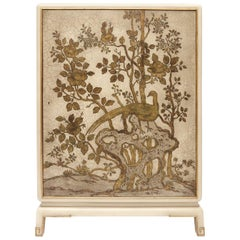 Dry Bar Cabinet with Gilt Fauna Scenery