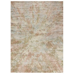 Hand Knotted silk rug - Dryade Rainforest, Edition Bougainville