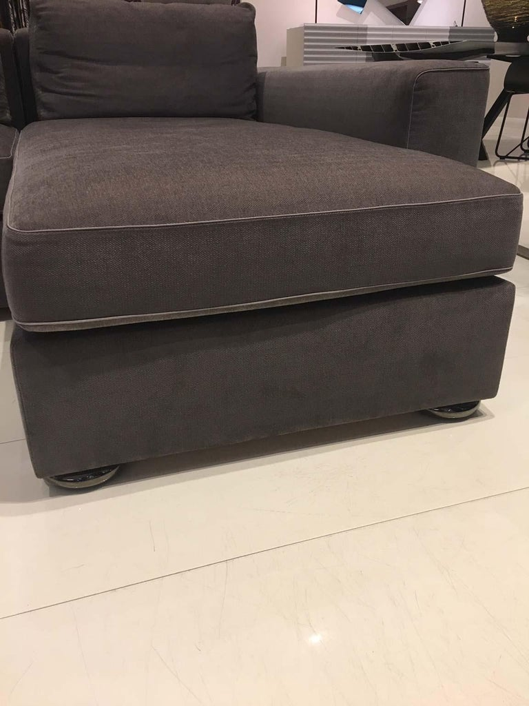 DS-247 Grey Fabric and Leather Sofa Sectional with Swivel End Piece by De Sede For Sale 2