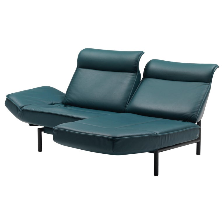 For Sale: Blue (Petrol) DS-450 Adjustable Leather Modern Sofa or Armchair by De Sede