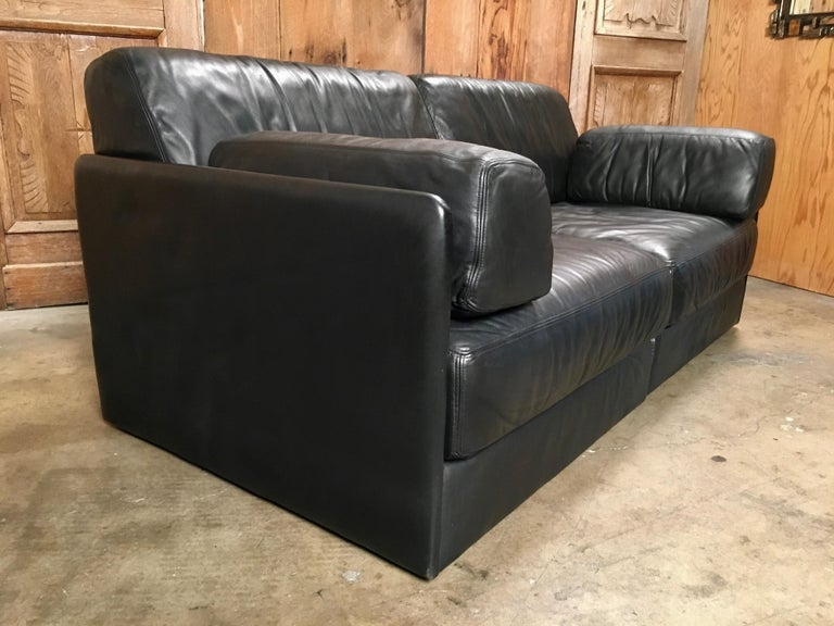 20th Century DS 76, De Sede Leather Sofa For Sale
