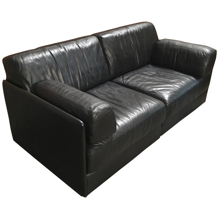 DS 76, De Sede Leather Sofa For Sale