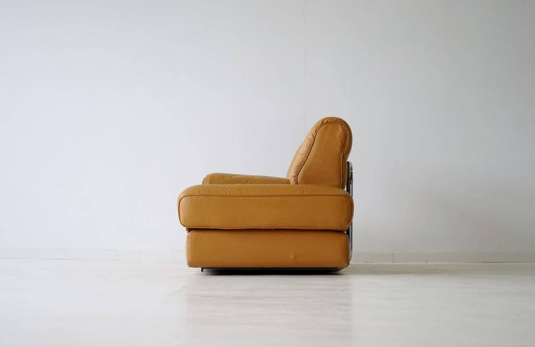 DS 85 De Sede Leather Sofa Daybed Canapé Chaise Longue In Good Condition For Sale In Greven, DE