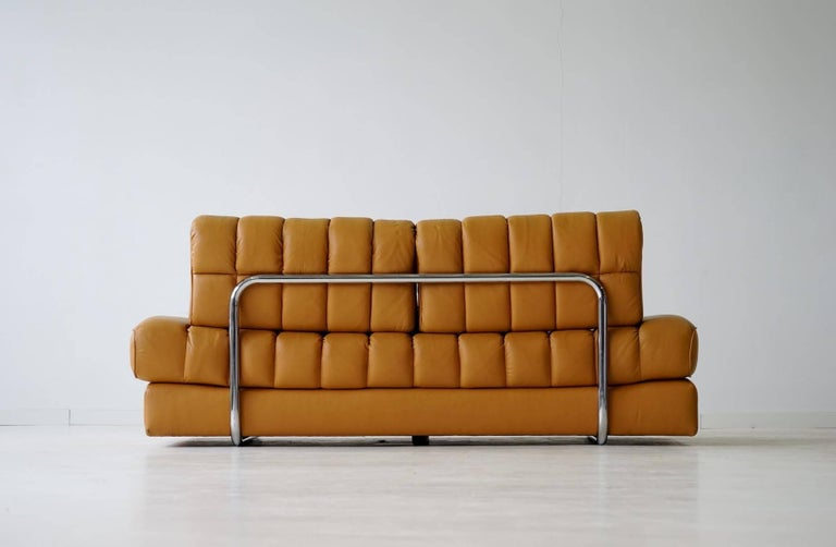 Late 20th Century DS 85 De Sede Leather Sofa Daybed Canapé Chaise Longue For Sale