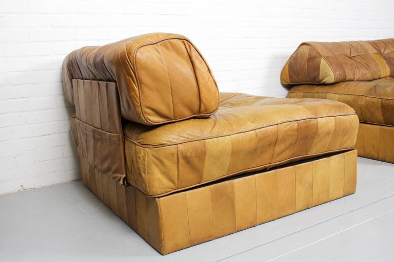 DS-88 Modular Patchwork Sofa by De Sede, 1960s, Set of 5 In Fair Condition For Sale In Appeltern, Gelderland