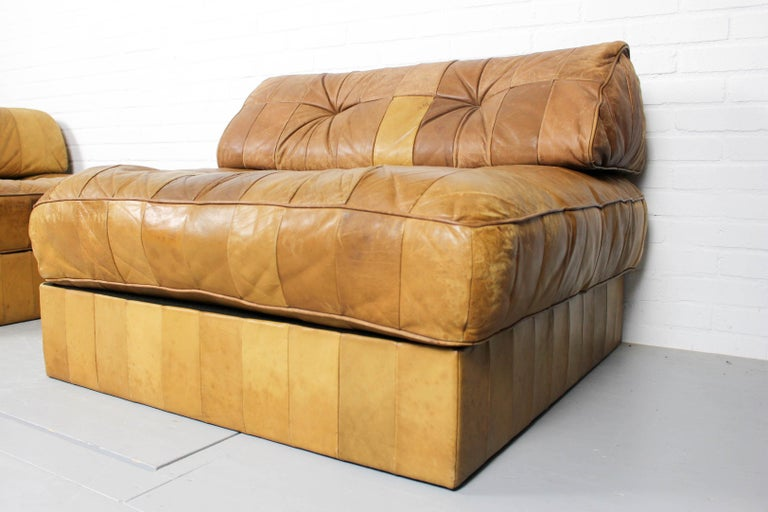 20th Century DS-88 Modular Patchwork Sofa by De Sede, 1960s, Set of 5 For Sale