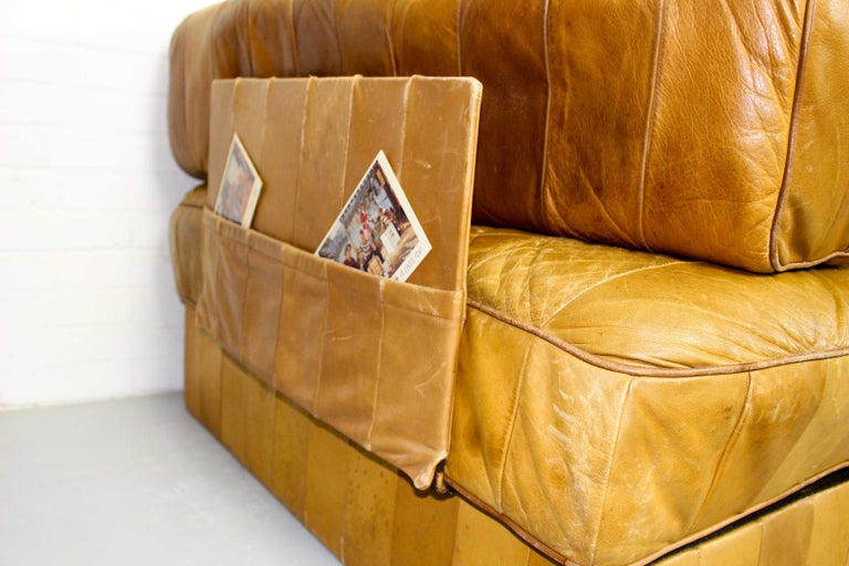 Leather DS-88 Modular Patchwork Sofa by De Sede, 1960s, Set of 5 For Sale