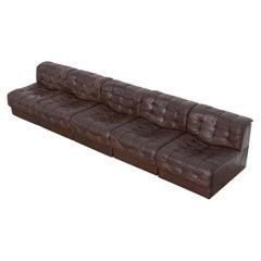 DS11 Modular Leather Sofa by De Sede