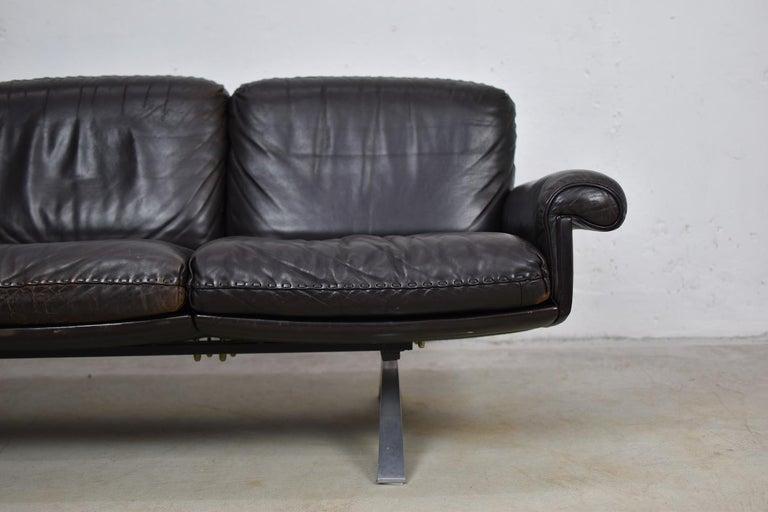 Mid-Century Modern DS31 Three-Seat by De Sede, Switzerland, 1970s For Sale