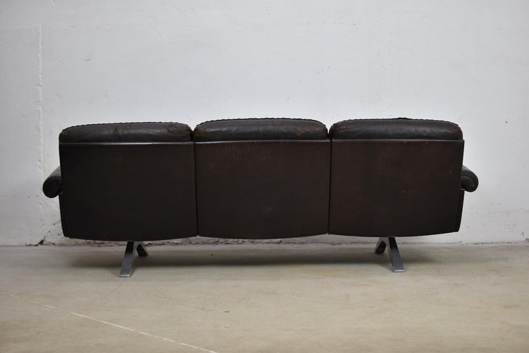 DS31 Three-Seat by De Sede, Switzerland, 1970s For Sale 1