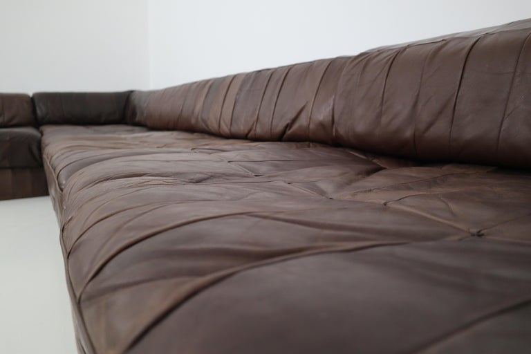 DS88 Modular Brown-Cognac Leather Patchwork Sofa for De Sede, Switzerland For Sale 7